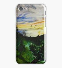 Paysage à l'aquarelle iPhone Case/Skin