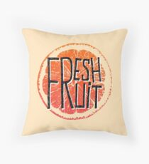 Orange fresh fruit illustration Throw Pillow