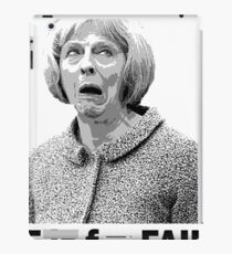 F is for Fail - Theresa May Comedy iPad Case/Skin