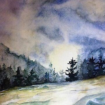 Watercolor landscape by Artanimalier
