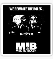E.T. vs MIB, Men in Black - We Rewrite the roles, mashup Sticker