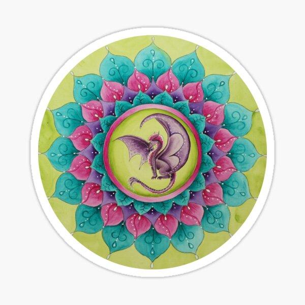 Mandala Drache Sticker