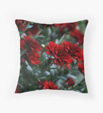 Crimson and Clover Throw Pillow