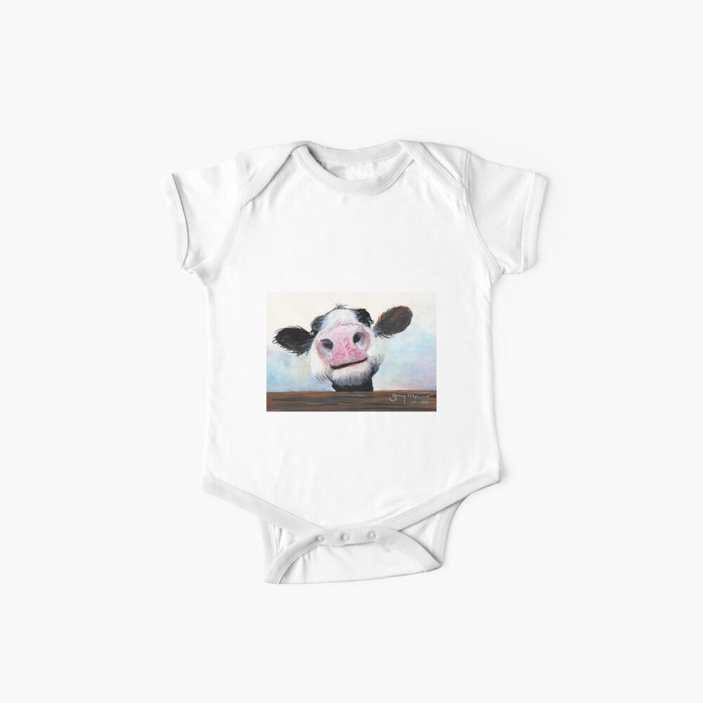 NOSEY COW 'HEY! HOW'S IT GOIN'?' BY SHIRLEY MACARTHUR Baby One-Piece