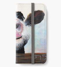 NOSY COW 'HE! WIE GEHT ES? VON SHIRLEY MACARTHUR iPhone Flip-Case/Hülle/Klebefolie