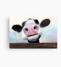 Lienzo ¡NOSY COW 'HEY! QUÉ TAL'?' POR SHIRLEY MACARTHUR