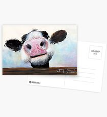 NOSEY COW 'HEY! HOW'S IT GOIN'?' BY SHIRLEY MACARTHUR Postcards