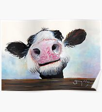 NOSEY COW 'HEY! HOW'S IT GOIN'?' BY SHIRLEY MACARTHUR Poster