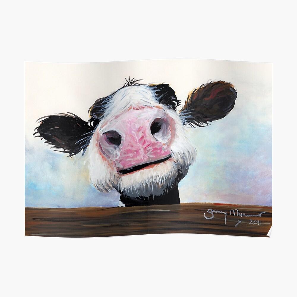 NOSY COW 'HE! WIE GEHT ES? VON SHIRLEY MACARTHUR Poster