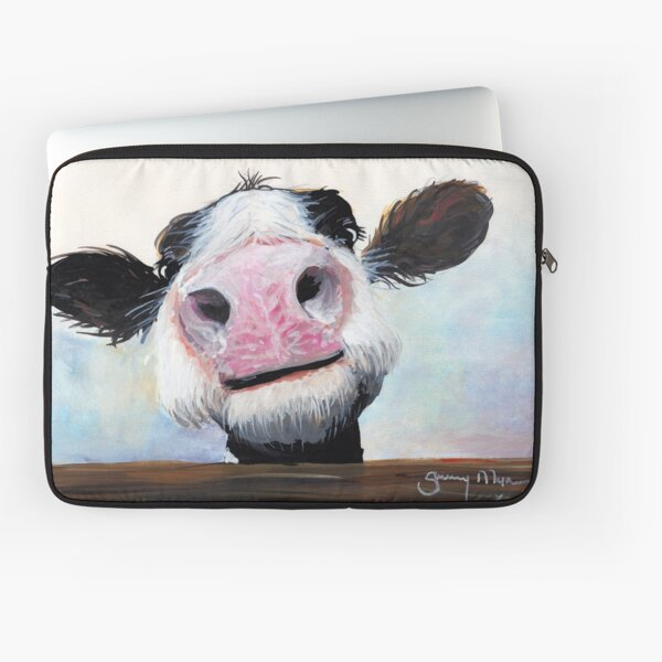 NOSEY COW 'HEY! HOW'S IT GOIN'?' BY SHIRLEY MACARTHUR Laptop Sleeve