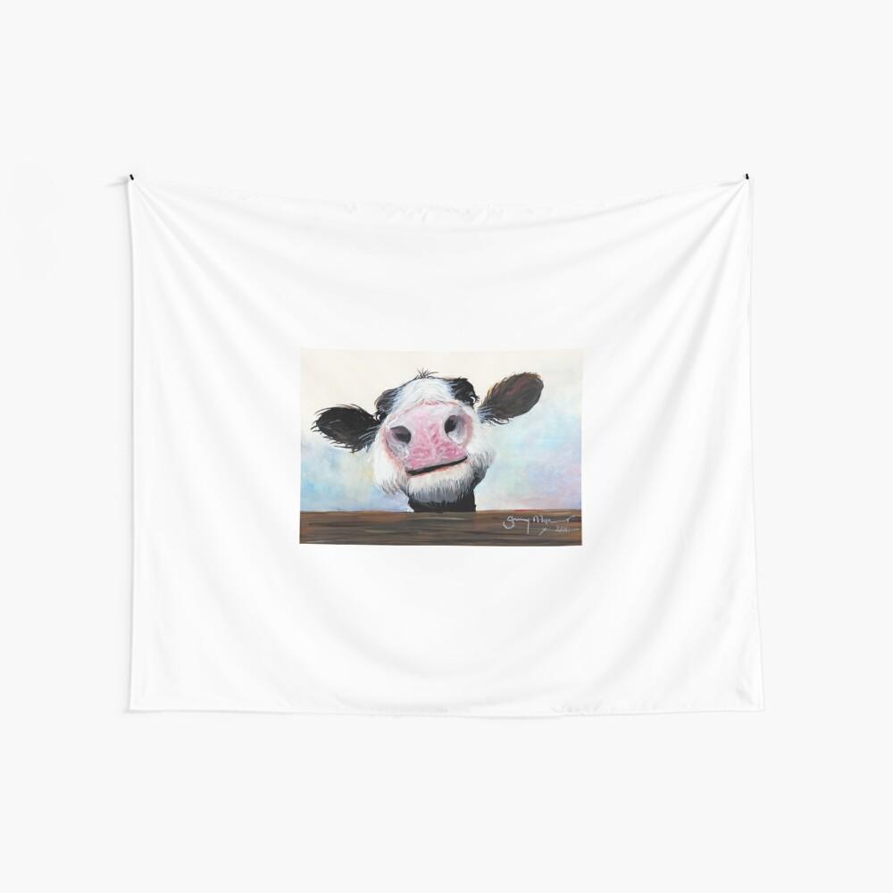 NOSY COW 'HE! WIE GEHT ES? VON SHIRLEY MACARTHUR Wandbehang