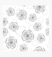 pattern with stylized flowers Photographic Print