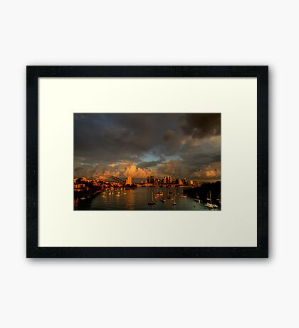 Silence Before The Storm - Moods of A City # 28 - Sydney Australia Framed Print