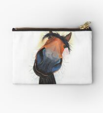 HORSE PRiNT 'HAPPY DAVE' BY SHIRLEY MACARTHUR Studio Pouch