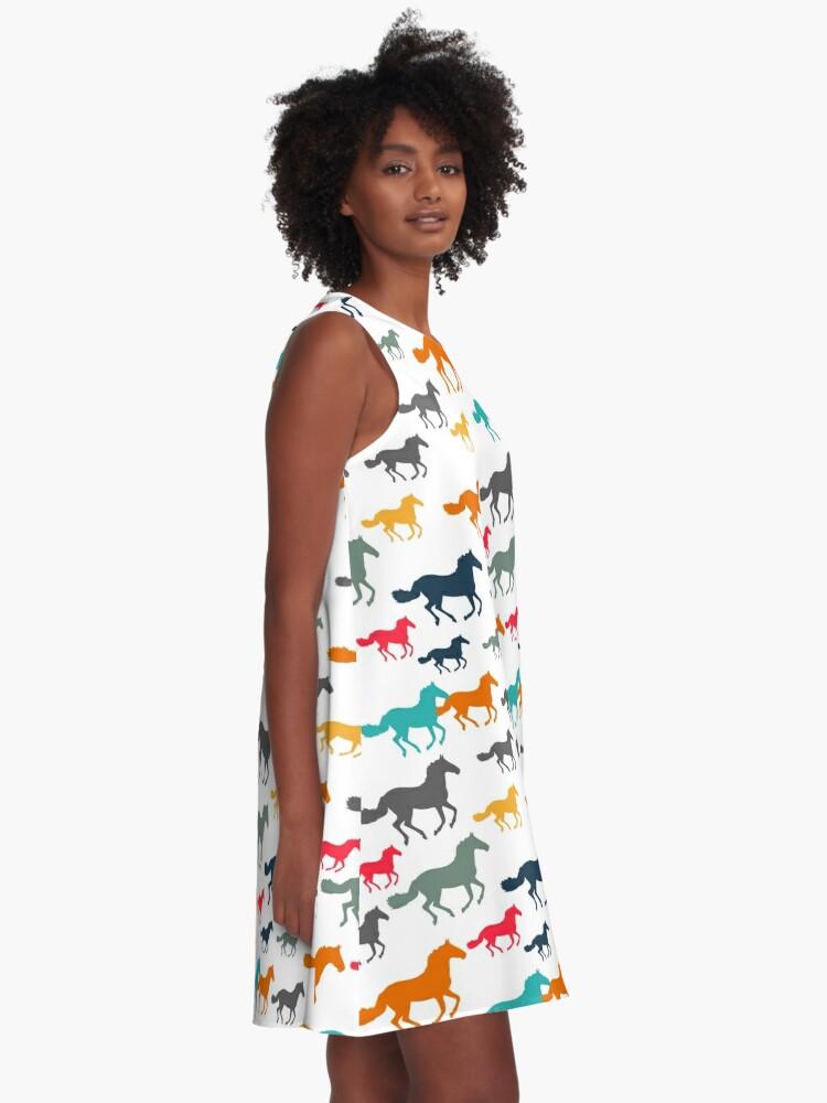 Alternate view of Horses A-Line Dress
