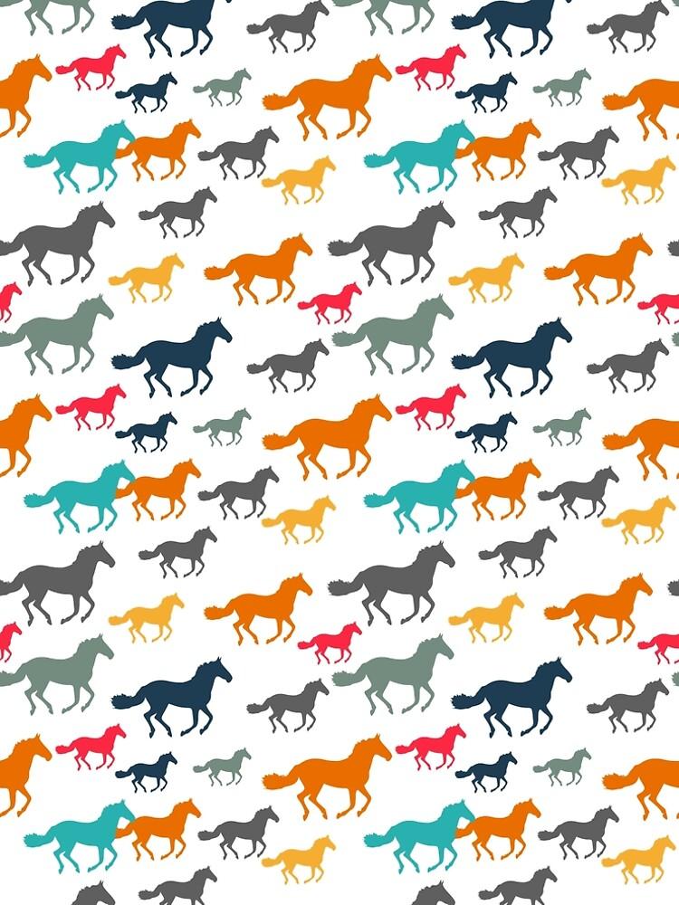 Horses by fourretout