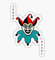 Joker playing card Sticker