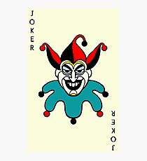 Joker playing card Photographic Print