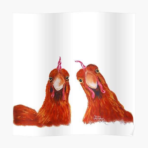 HENS CHiCKeNS PRiNT 'HARRIET & HUMBUG' BY SHIRLEY MACARTHUR Poster