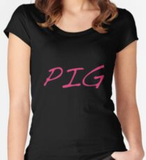 I love pigs  Women's Fitted Scoop T-Shirt