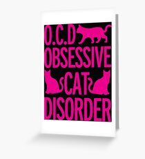 cats, animals, funny Greeting Card