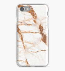 white marble with brown tiles iPhone Case/Skin
