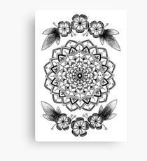 Pansy Flower Mandala Canvas Print