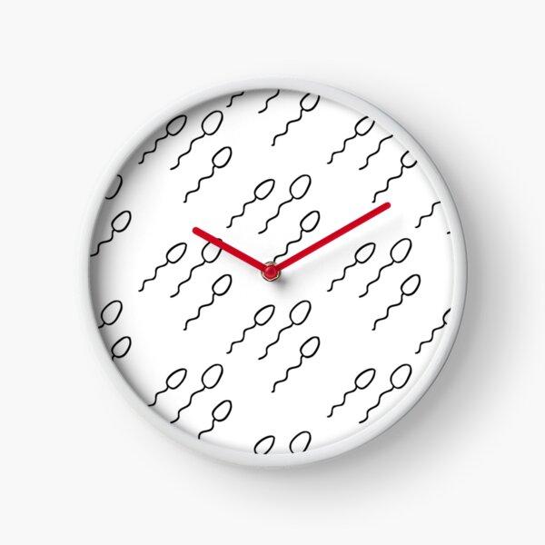 sperm seamless doodle pattern Clock