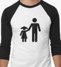 Father dad daughter girl Men's Baseball ¾ T-Shirt