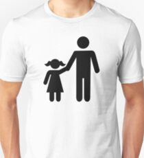 Father dad daughter girl T-Shirt