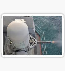 The close-in weapons system during a live fire exercise aboard USS Harry S. Truman. Sticker