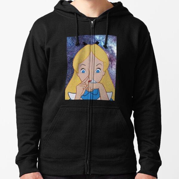 Alice going to Wonderland Zipped Hoodie