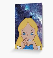 Alice in Wonderland doing a Bump Greeting Card