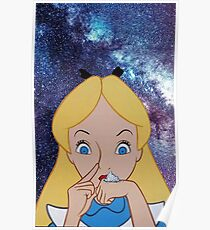 Alice in Wonderland doing a Bump Poster