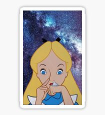 Alice in Wonderland doing a Bump Sticker