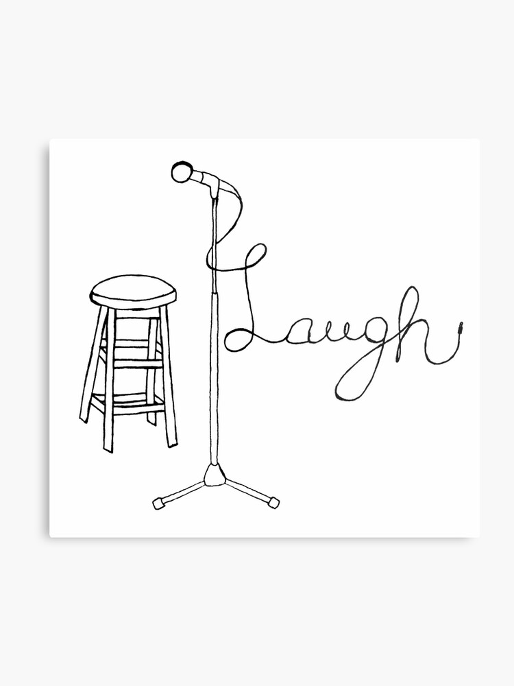 Terrific Stand Up Comedy Drawing Metal Print Gmtry Best Dining Table And Chair Ideas Images Gmtryco