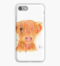 SCOTTISH HIGHLAND COW 'FERGUS' By Shirley MacArthur iPhone Case/Skin