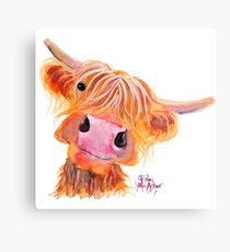 Highland Cow 'NESSIE' from Original Painting by Shirley MacArthur Metal Print