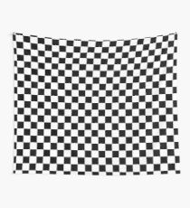 Checkered Flag, Chequered Flag, Motor Sport, Checkerboard, Pattern, WIN, WINNER,  Racing Cars, Race, Finish line, BLACK Wall Tapestry