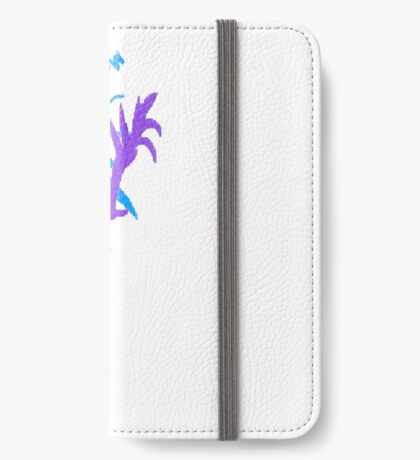 Blue & Purple Flowers iPhone Wallet
