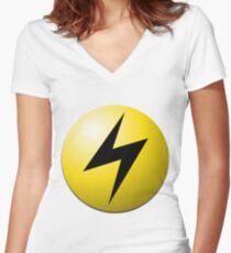 Lightning Energy Women's Fitted V-Neck T-Shirt