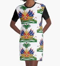 Haiti Coat of Arms Graphic T-Shirt Dress