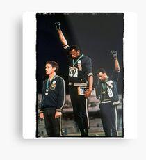 1968 Olympischen Spiele Gruß für Menschenrechte Metalldruck