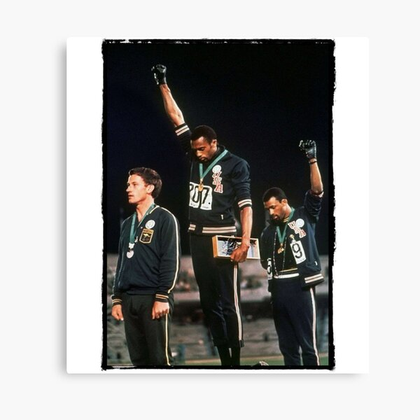 1968 Olympics Salute for Human Rights Canvas Print