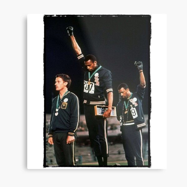 1968 Olympics Salute for Human Rights Metal Print
