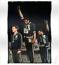 1968 Olympics Salute for Human Rights Poster