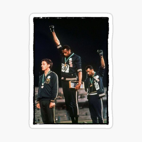 1968 Olympics Salute for Human Rights Sticker