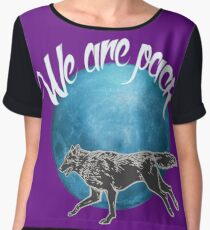 Nighteyes wolf pack Women's Chiffon Top
