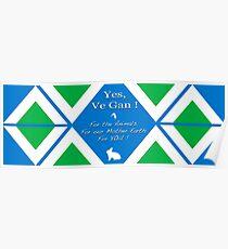 Official Vegan Flag - Yes, Ve Gan ! Poster