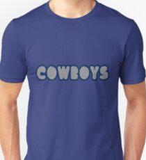 Cowboys Font Unisex T-Shirt